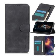 Samsung Galaxy S21 5G Wallet Cover Retro Oil Zwart