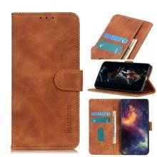 Samsung Galaxy S21 5G Wallet Cover Retro Oil Bruin