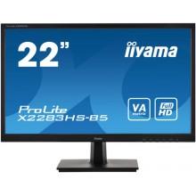"IIYAMA 22"" 1920X1080 VAP VGA HDMI DP 4ms Black B5"