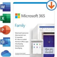 Microsoft Office 365 Home Abonnement 6 Gebruikers / 1 jaar