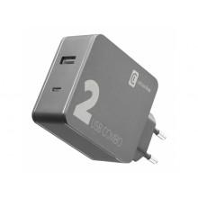 Cellularline Travel Dual charger USB En USB-C 42W