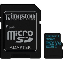 Kingston Micro SDXC Klasse U3 UHS-I V30 met SD Adapter - 32 GB