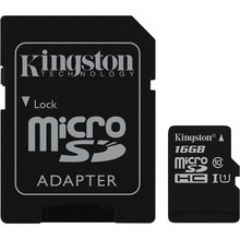 Kingston Micro SDHC Klasse 10 UHS - I met SD Adapter - 16 GB