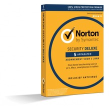 Norton internet security deluxe, 1 jaar - 5 apparaten