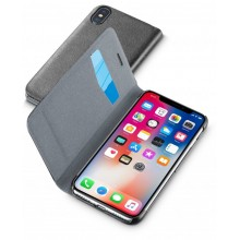 Apple iPhone X / Xs Cellularline Book Essential Case Zwart