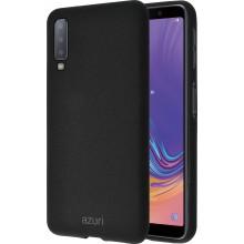 Samsung Galaxy A7 (2018) Azuri Flexible Sand Back Cover Zwart
