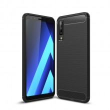 Samsung Galaxy A7 (2018) Brushed Carbon Fiber TPU Case