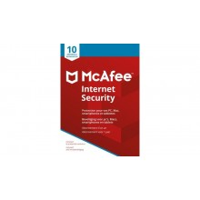 McAFEE Internet Security - 1 Y / 10 app. Win, Mac, Android, iOS