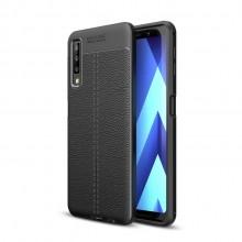 Samsung Galaxy A7 (2018) Litchi Texture TPU Case