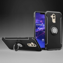 Huawei Mate 20 Lite Back Cover Met Magnetische Ring
