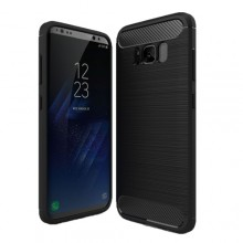 Samsung Galaxy S8 Brushed Carbon Fiber TPU Protective Cover Case