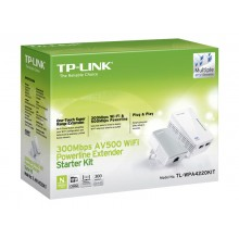 TP-Link TL-WPA4220KIT AV500 2-Port Wifi Powerline Adapter Starter Kit