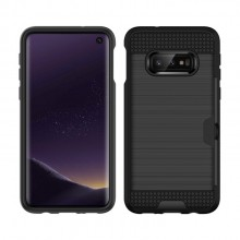 Samsung Galaxy S10e TPU + PC Cover Brushed Carbon Fiber