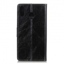 Samsung Galaxy A40 Wallet Case Leather Horse Texture