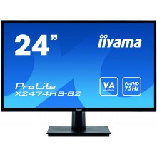 "IIYAMA LED 24""FHD Va Panel VGA DP HDMI 4MS Speakers Black"
