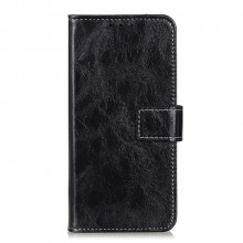 Samsung Galaxy A41 Wallet Case Leather Horse Texture