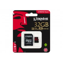 Kingston Micro SDXC 3 UHS - I 100R met SD Adapter - 32 GB