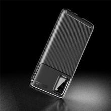 Samsung Galaxy A41 Carbon Fiber Texture Shockproof TPU Case