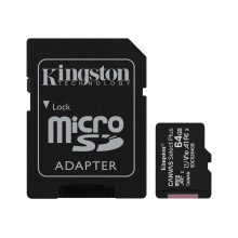 Kingston Micro SDXC 3 UHS - I 100R met SD Adapter - 64 GB