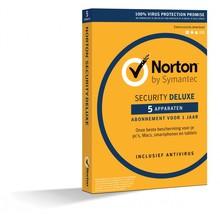 Norton internet security deluxe, 1 jaar - 5 apparaten