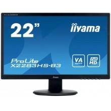 "IIYAMA 22"" 1920X1080 VAP VGA HDMI DP 4ms Black"