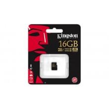 Kingston Micro SDHC Klasse U3 UHS - I 90R/45W met SD Adapter - 16 GB